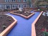 Bonded aggregate paving in blue