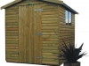 Scandinavian Range Tanalised Apex Garden Shed