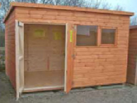the royale garden shed pent workshop